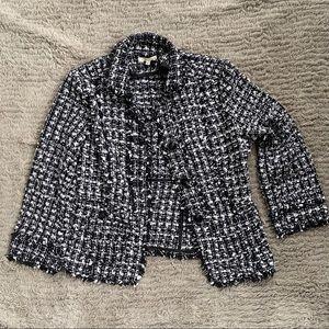 LE lis Sweater blazer Three Button L